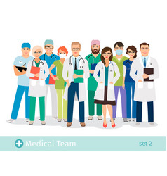 Hospital or medical staff cartoon characters vector