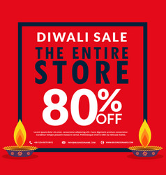 Diwali season sale banner discount and deals with vector