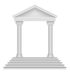 Ancient roman temple with steps and columns vector