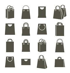 Shopping back icons isolated on white background vector