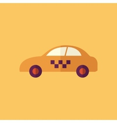 Taxi transportation flat icon vector