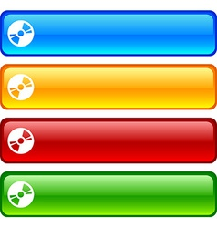 Cd buttons vector