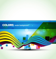 Blue color banner vector