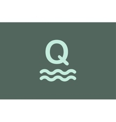 Q letter logo icon templated vector
