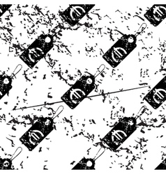 Euro price pattern grunge monochrome vector