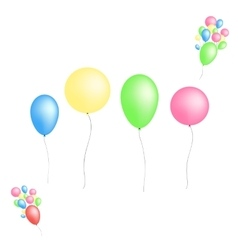 Color glossy balloons isolated on white background vector