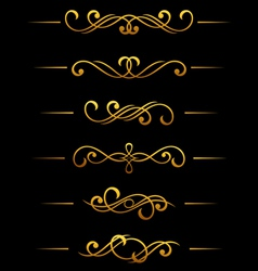 Golden vintage divider vector