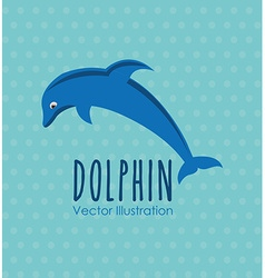 Sea animal design vector