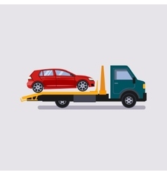 Roadside assistance tow truck car vector