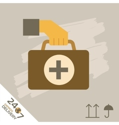 Medical express delivery symbols vector