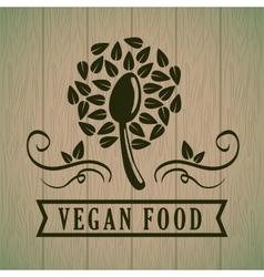 Organic and healthy food vector