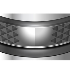 Metal curve background vector