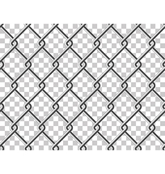 Steel mesh metal fence seamless transparent vector