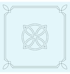 Abstract circular symbol vector