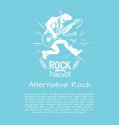 Alternative rock music forever vector