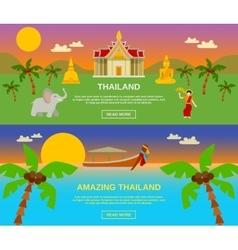 Amazing thailand banners set vector