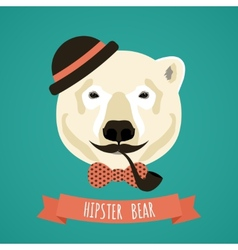 Animal hipster portrait vector image