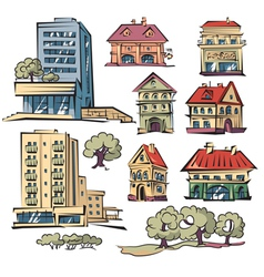 Apartment houses vector