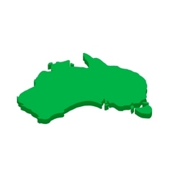 Australia map icon isometric 3d style vector image vector image