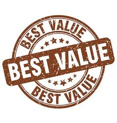 Best value brown grunge round vintage rubber stamp vector