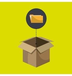 Box folder files organize vector