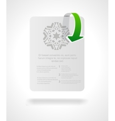 brochure or magazine cover template vector image vector image