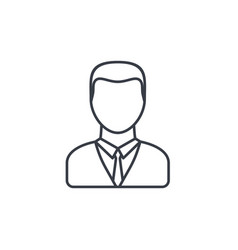 Businessman avatar thin line icon linear vector