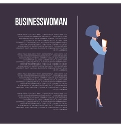 Businesswoman banner with space for text vector