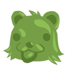 Cartoon green gum bear icon vector