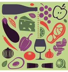 Delicious cooking set vector image vector image