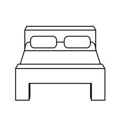 Double bed icon image vector