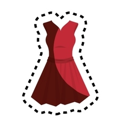 female clothes silhouette icon vector image vector image