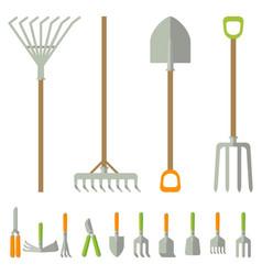 Garden tools big set vector