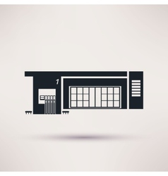 Gas station the building is an icon flat style vector