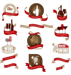 Labels set for wine vector image vector image