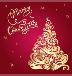 merry christmas poster template vector image