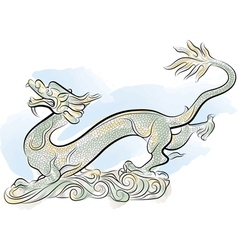 old chinese traditional dragon vector image