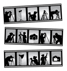 photography filmstrip vector image