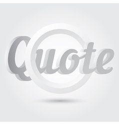 Quote blank template vector