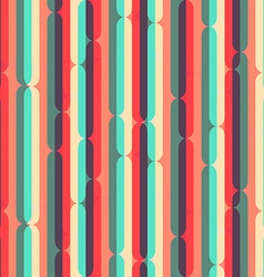 retro stripes seamless pattern vector image