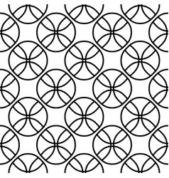seamless pattern on balls fans vector image vector image