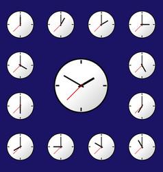 set clock icon design eps10 vector image vector image