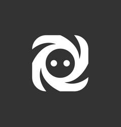 Socket logo icon on black background vector
