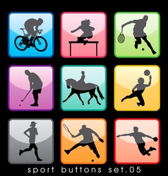 sport buttons 05 vector image