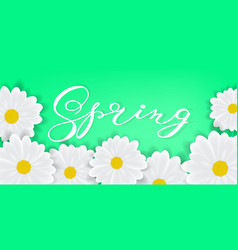 Spring background with hand writening lettering vector