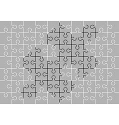 Stencil of puzzle pieces third variant vector