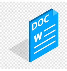text file format doc isometric icon vector image