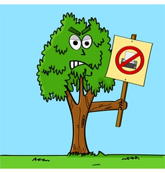 Tree agaisnt printing vector image vector image