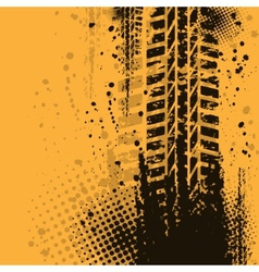 Warm tire track background vector