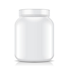 white blank plastic jar isolated on white vector image vector image